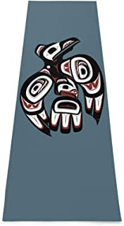 TPOKIM Raven First Nations Art Yoga Mat-Upgraded Eco Friendly Non-Slip Exercise & Fitness Mat with Carrying Strap,Workout ...
