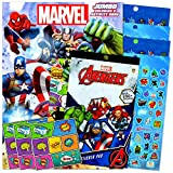 Avengers Marvel Coloring Book Stickers Fun Set Bundle Includes Separately Licensed GWW Reward Stickers and Door-Hanger for Kids