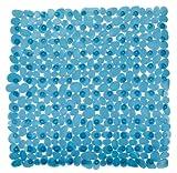 WENKO Esterilla para ducha Paradise petróleo - antideslizante, Cloruro de polivinilo, 54 x 54 cm, Petróleo