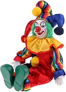 38cm Lovely Smiling Porcelain Clown Doll for Kids Birthday Gifts Halloween Christmas Table Decoration #1