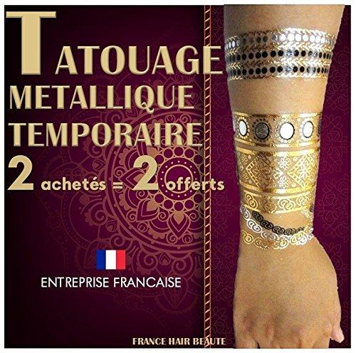 Tatouages Temporaires metalliques haute qualité.