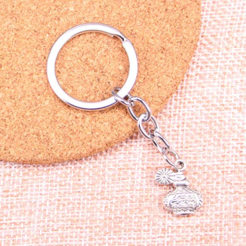 TAOZIAA parfum fles Charm Hanger Sleutelhanger Sleutelhanger Ring Ketting Accessoires Sieraden