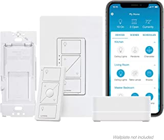 Lutron P-BDG-PKG1W-A Caseta Wireless Smart Dimmer Switch Kit, White