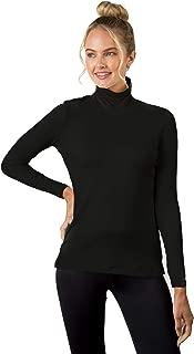 A'NUE LIGNE A'nue Miami Women's Classic Turtleneck, Long Sleeve Basic Shirt