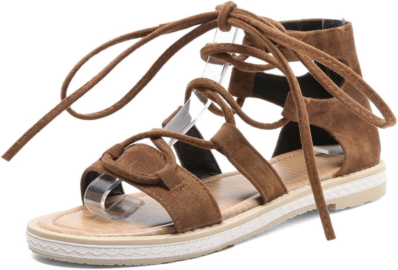 2018 Womens's shoes Large Size Flat Sandals Female Cross Strap Roman shoes Summer Sandals