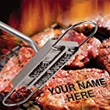 Harudawoo, Strumenti di Sicurezza per Barbecue, Timbro a Caldo, Personalizzabile, 55 Lettere, Stampo per Bistecca e Barbecue