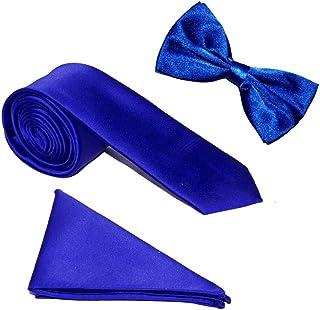 Marks & Spencer Homme Géométrique Bleu Cravate en soie large Fit Cravatte Hommes: accessoires Vêtements, accessoires