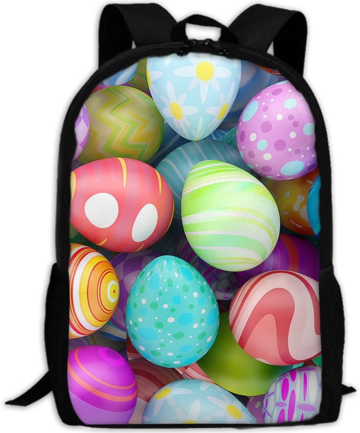Backpack Laptop Travel Hiking School Bags Nice Easter Eggs Daypack Shoulder Bag