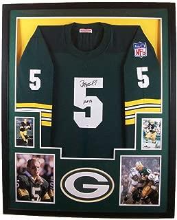 Paul Hornung Green Bay Packers Autograph Signed Custom Framed Jersey HOF Inscribed Green JSA Certified