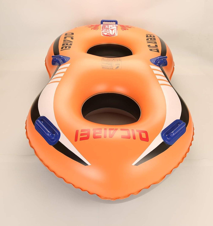 Doppelte Starke Erdnussschalenwasserrutsche Aufblasbare Spielzeuge, Gummiringschwimmring, Poolspielzeug -175cm  98cm  35cm
