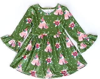 Honeydew cutie Boutique Green Ruffle Long Sleeve Dress