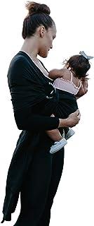 BabiJoe Au - Baby Carrier Wrap, Ring Sling, 100% Soft Linen, Baby Sling,(Black)