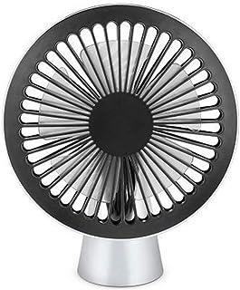 XIAOF-FEN Cute Cat Ear Fan Mini Portable Round USB Handheld 3 Gear Wind 7 Leaf Electric Fan USB Fan Color : Blue