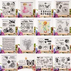 sayletre Clear Silicone Stamp Sheet Printing Scrapbooking Embossing Stamper Transparent Cling Seal for DIY Scrapbook Photo Albums Paper Notebook Card Making Arts Crafts Supplies Musical Symbol #3