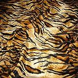 Stoff Polyester Plüsch Tiger Fellimitat Fell Tigerfell