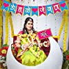 Wobbox Colourful Indian Pattern Marathi Family Photo Booth Party Props for Baby Shower with Marathi Bunting Banner Combo #3