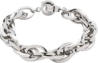 JEWELS BY LEONARDO DARLIN'S damesarmband Plait, roestvrij staal met Maxi-Clip, CLIP & MIX systeem, lengte 205 mm, 013954
