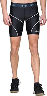 B-TUF Men's Compression Shorts Baselayer Sports Running Tights Active Gym Clothing Pant BT-81
