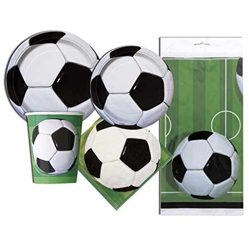 16 Soccer Ball Party Supplies Sports Dinner Plates and Napkins 8