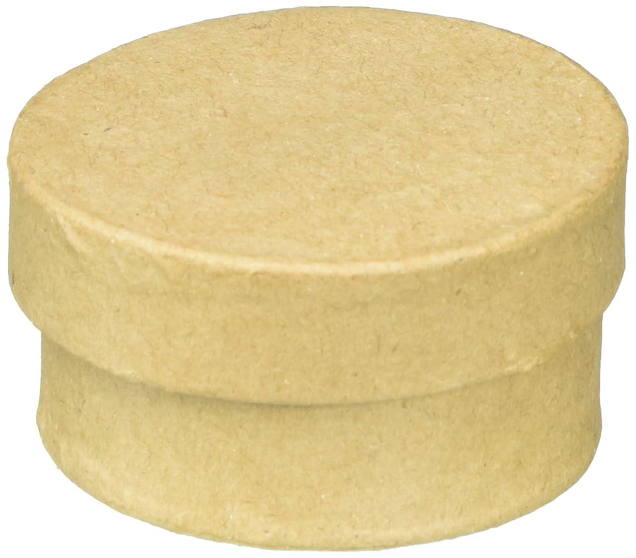 Craft Ped Paper CPL1010963 Mache Box Bitty Round Kraft, 6 Piece