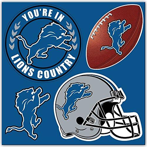 NFL Detroit Lions 4-Piece MAGNET Set, Blue,