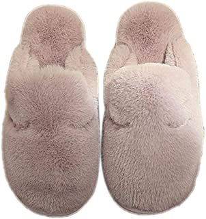 BIGBOBA Ladies' Men Cotton Slip On Mule Slippers Couple Cute Shoes House Slippers Non-Slip Guest Slippers Closed for Winte...