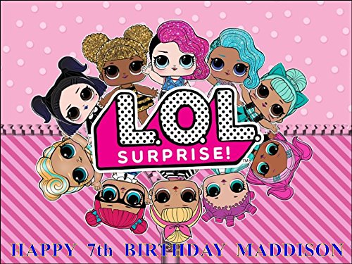 Lol Surprise Dolls Design 1 10 X 7 5 Edible Icing Cake Topper Personalised Free Any Name Age Or Message Amazon Co Uk Kitchen Home