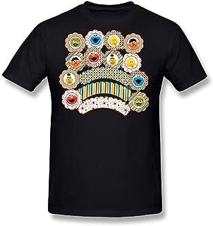 Flesiciate1 Men Sesame Street Face Series Design T-Shirts