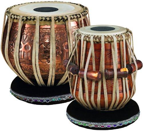 Meinl Percussion PRO-TABLA - Set di tabla, collezione Artisan, diametro Dayan/Bayan 5,5'/9' (13,97/22,86 cm), colore: Rame/naturale