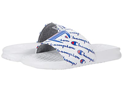 Champion Kids Super Slide Mega Script (Little Kid) (White) Kid