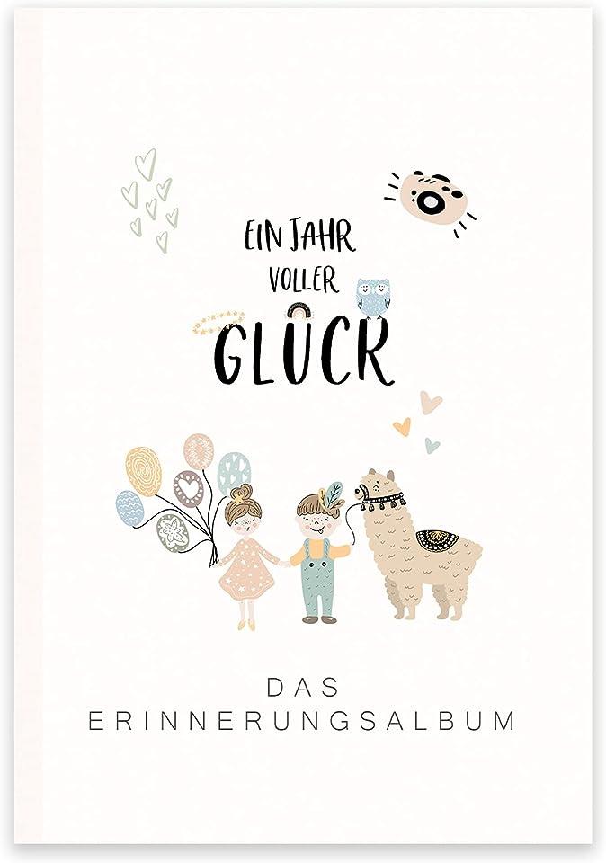 Fotoalbum Baby Babyalbum Baby Geschenk Junge Mädchen Fotobuch Baby Buch zum eintragen Fotoalbum Baby Fotoalben für Babys Baby Geschenk (Erinnerungsalbum Baby, 1. Lebensjahr - Bunte Tiermotive)