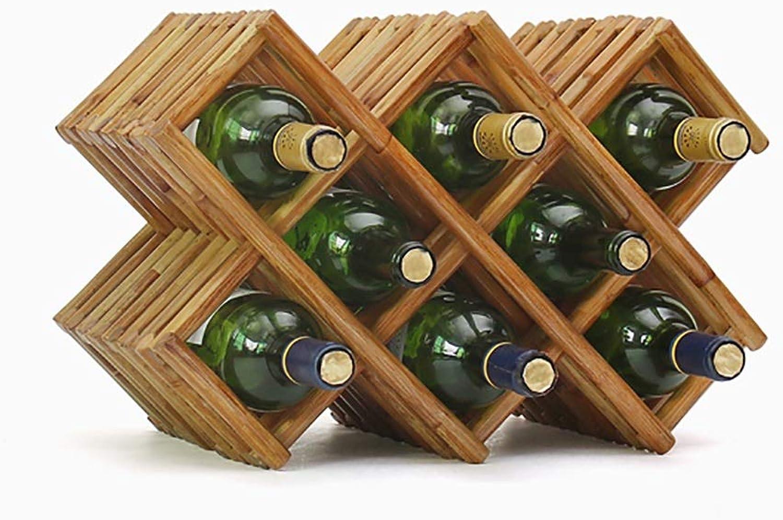 aquí tiene la última CDBL CDBL CDBL Estante del Vino de Madera Maciza decoración hogar Creativo Estante del Vino Europeo Estante del Vino Bastidores de Stemware (Color   B)  Precio por piso