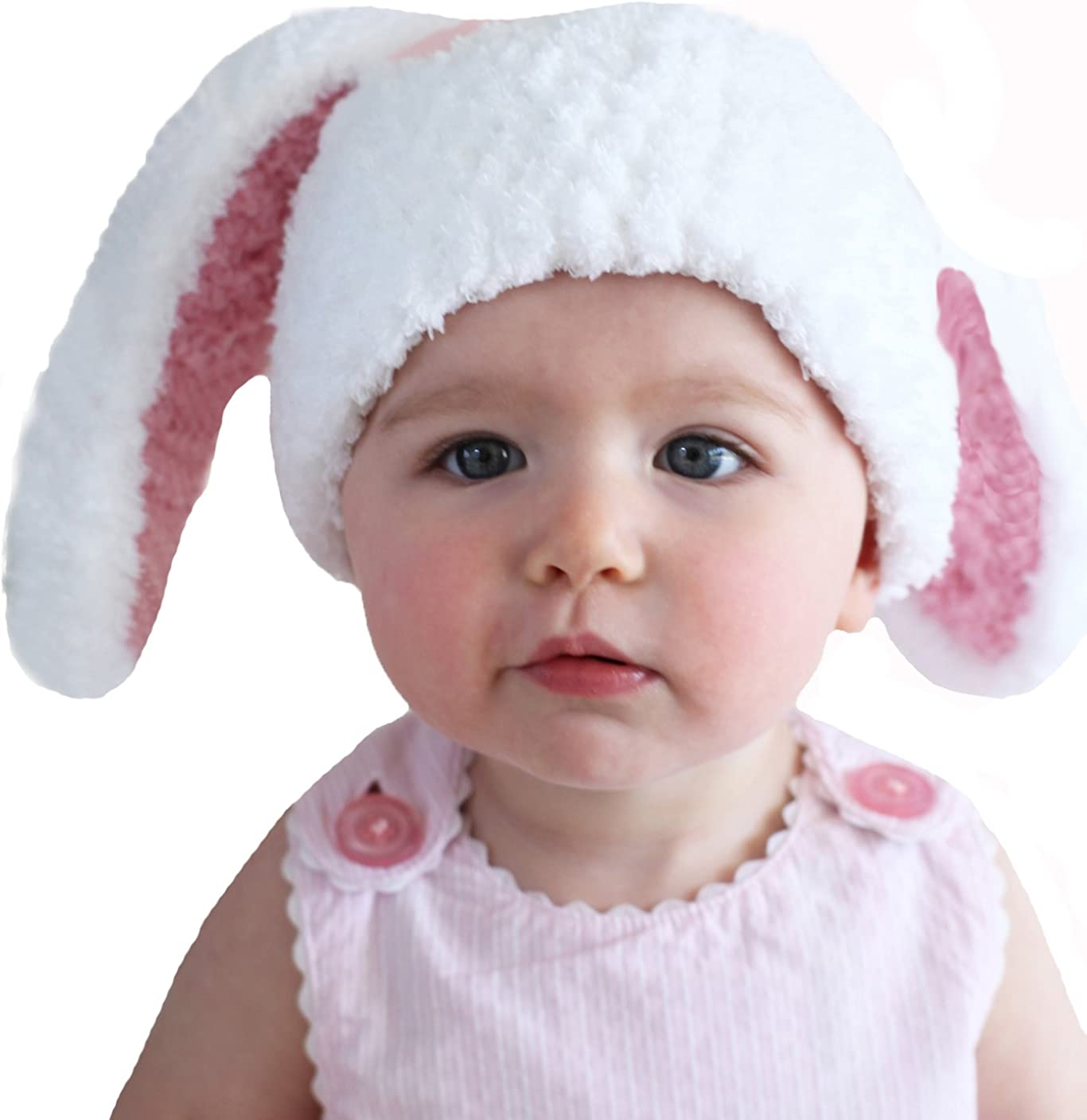 55% OFF Melondipity Girls Floppy Ear Bunny Baby White - Prem Organic Challenge the lowest price Hat