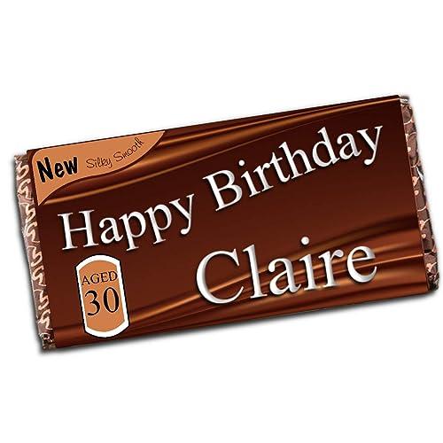 Personalised Happy Birthday 114g Galaxy Milk Chocolate Bar 16th 18th 21st 30th 40th 50th 60th