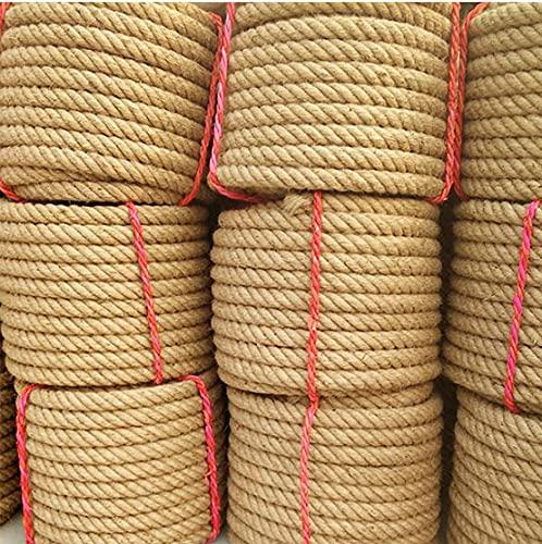 Cuerda de cáñamo natural gruesa de 1 mm-26 mm atada cuerda al aire libre cuerda escalera decorada valla cuerda DIY manual-26 mm x 3 metros