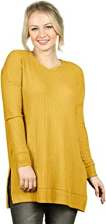 Cable-Knit Womens-Tops Crew-Neck Long Sleeve Loose-Pullovers Casual-Kintwears