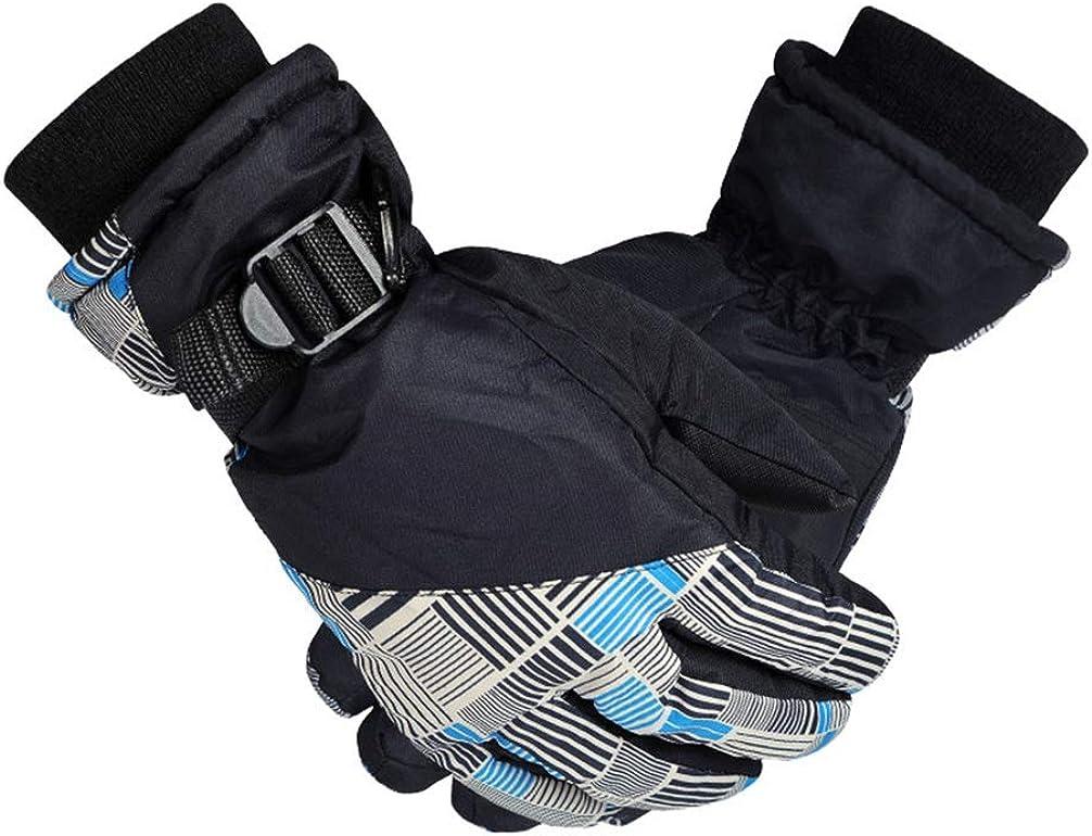 FENICAL 1 Pair Unisex Ski Gloves Outdoor Riding Anti-splashing Water Durable Finger Gloves Ski Gloves Windproof Gloves for Outdoor