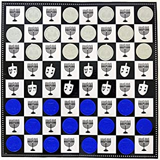 Chanukah Checkers Board Game The Classic Game with A Chanuka Twist