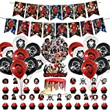 100 Pcs Horror Movie Character Party Decorations Set, Thriller Killer Role Theme Birthday Supplies Cool Stickers for Adults Birthday Party Supplies Decor