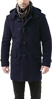 Men's Tyson Wool Blend Leather Trimmed Toggle Coat (Regular Big & Tall)