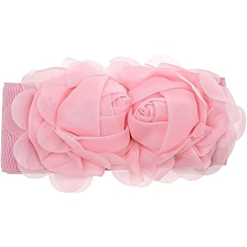 Fashion Women Girl Double Rose Flower Buckle Elastic Wide Waist Corset Belt Band