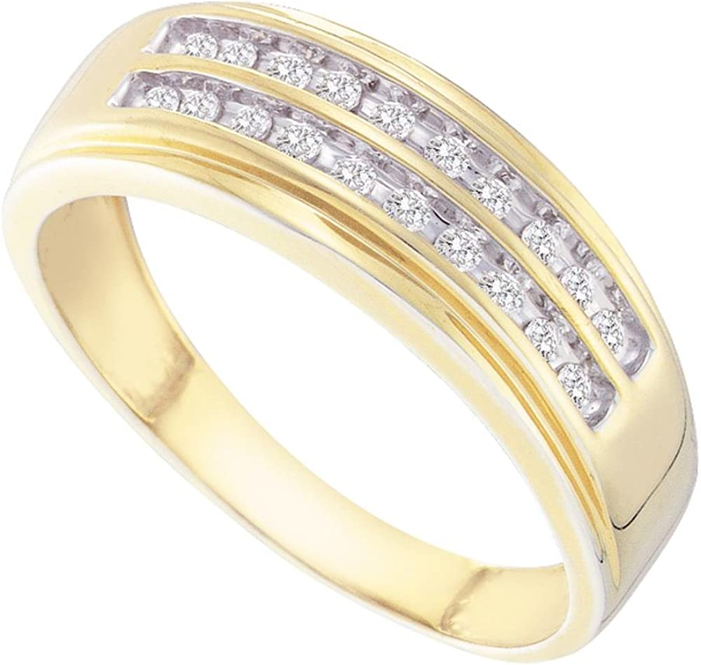 Sonia Jewels 14K Yellow and White Diamond Tone Rows Gold Two Ranking TOP8 All items free shipping