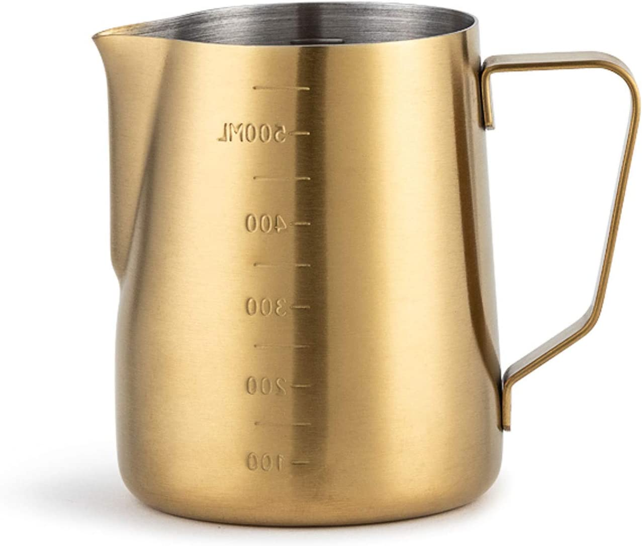 Creamer Pitcher Large-capacity Milk Challenge Baltimore Mall the lowest price Froth Double Stain Scale Pot