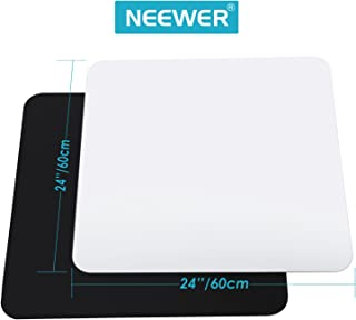 Neewer 24x24inch/60x60cm Acrylic White & Black Reflective Display Table Background Boards for Product Table Top Photography Shooting