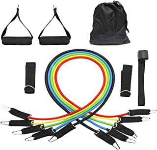 11 PCS Set Exercises Resistance Bands,Workout Toning Heavy Fitness Tube Resistance Bands Cord for Exercise Fitness Pilates...