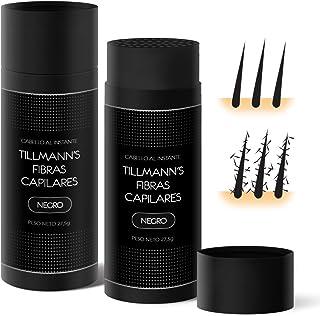Tillmann's® Fibras Capilares Negro 27,5 gramos - Caida Cabello Hombre - Keratin Fibers - Disimular Calvicie Al Instante Con Polvo de Queratina 100% Natural