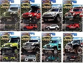 2016 Matchbox Jeep Anniversary Edition Jeep Set of 8 Cars