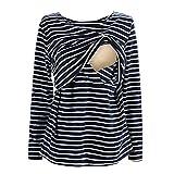 UTOVME Mujeres Camiseta de Lactancia Premamá Camisa de Mate