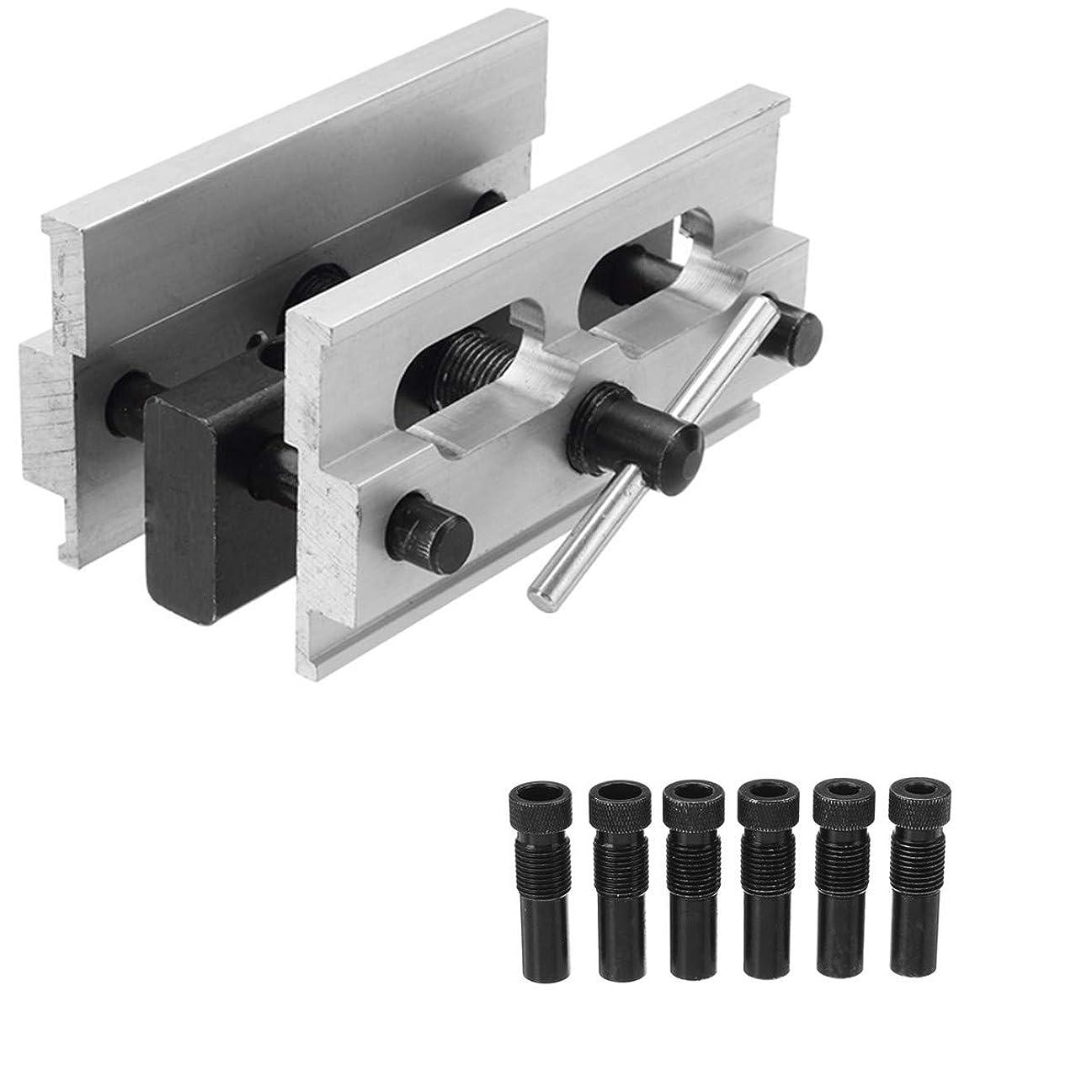 けん引叫ぶ同行CarAngels ドリルガイド 冶具 木工 掘削 ドリルロケータ ダボガイドセット 調整可能 6/8/10/11/12mm 木工ツールセット