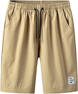 Fubotevic Mens Summer Casual Active Plus Size Drawstring Cargo Shorts No Belt